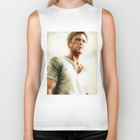 ryan gosling Biker Tanks featuring Ryan Gosling - Drive by Hilary Rodzik