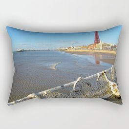 Sunny Day In Blackpool  Rectangular Pillow
