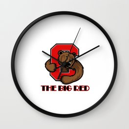 The bear big red Wall Clock