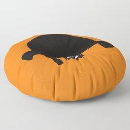A Clockwork silhouette Floor Pillow