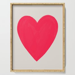 Big Neon Heart - Hot Pink Serving Tray