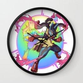 Mega Lucario Wall Clock