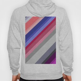 grey blue pink purple stripes Hoody