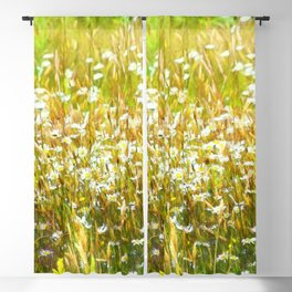 Field of Daisies Blackout Curtain