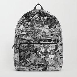 Sparkly Silver Glitter Confetti Backpack