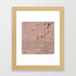 Mountain Shapes Pattern Framed Art Print