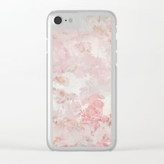 Vintage Floral Rose Roses painterly pattern in pink on #Society6 Clear iPhone Case