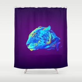 Neon Bars Shower Curtain