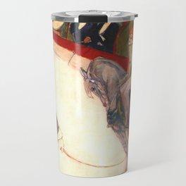 """Henri de Toulouse-Lautrec """"Equestrienne (At the Cirque Fernando)"""" Travel Mug"""