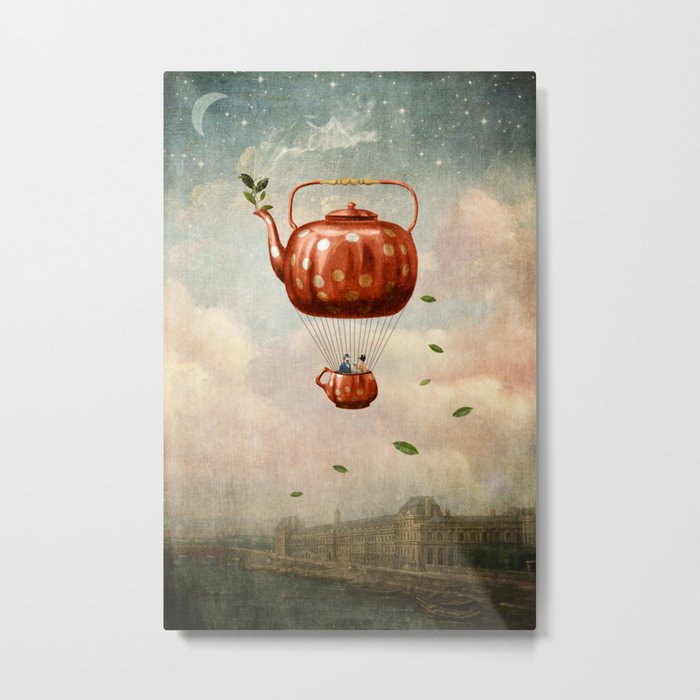 Tea for Two at Dusk Metal Print