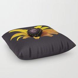 Rudbeckia Dark Floor Pillow