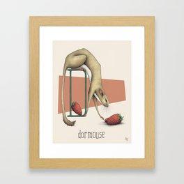 D is for Dormouse Framed Art Print