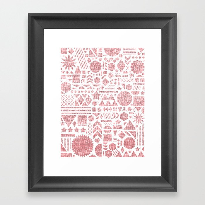Modern Elements with Bubble Gum. Framed Art Print