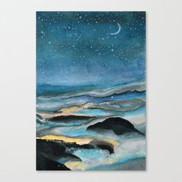 Sea Of Fog At Night Canvas Print
