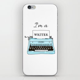 I'm A Writer iPhone Skin