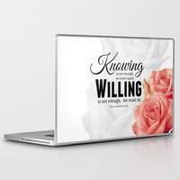 motivation Laptop & iPad Skins featuring Knowing motivation quote by Juliana RW
