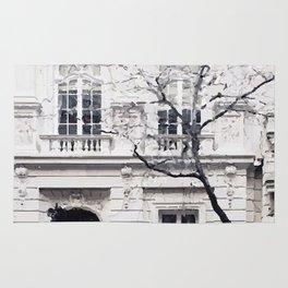 White edifice Rug