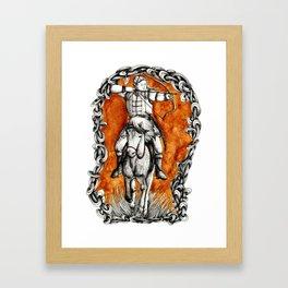 The fair huntsman Framed Art Print