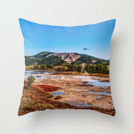 Bear Resort: Caldera Uzon Throw Pillow