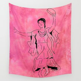 Lupercalia  (Roman dancer with tambourine) Wall Tapestry