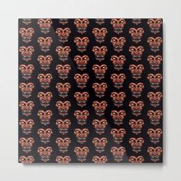 Dark Conversational Pattern Metal Print
