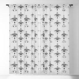 Metaphys Moth - Gray Blackout Curtain