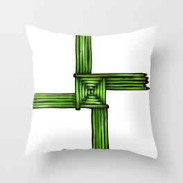 Bride's Cross Throw Pillow
