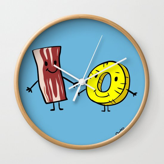 Bacon Pineapple Wall Clock