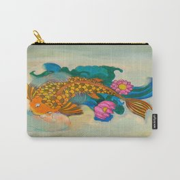 Koi Fish in lotus pond// lotus pond Carry-All Pouch