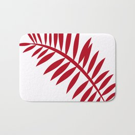 PALM LEAF RED Bath Mat
