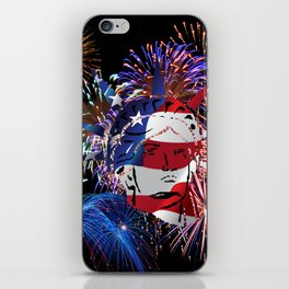 Abstract, Liberty, Flag (OS17006) iPhone Skin