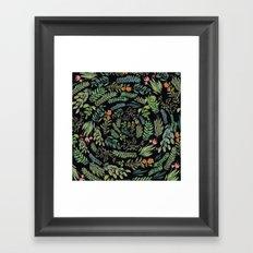 circular garden at nigth Framed Art Print