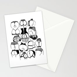 Lingerie Butts Stationery Cards
