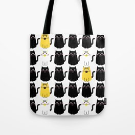 Black cat, white cat Tote Bag