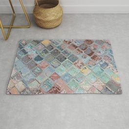 Colorful Abstract Tiles Rug