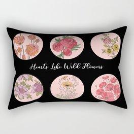 Hearts Like Wild Flowers Rectangular Pillow