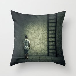 imaginary stairway escape Throw Pillow