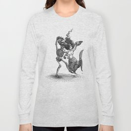Dancing Mermaid and Skeleton Long Sleeve T-shirt