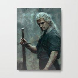 Geralt of Rivia (The Witcher) Andrezj Sapkowski Metal Print