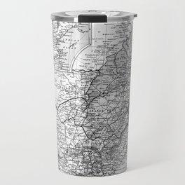 Vintage Map of South Africa (1892) BW Travel Mug