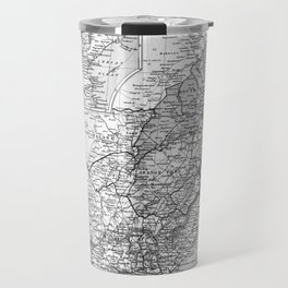 Vintage Map of South Africa (1892) BW Travel Mug