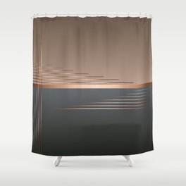 Bass gets you in the groin Shower Curtain