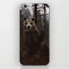 Bear Waving Hello iPhone & iPod Skin