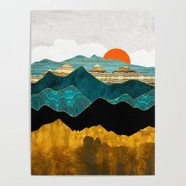 Turquoise Vista Poster