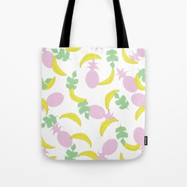 Tropical Pattern // Yellow Pink Green Palette Tote Bag