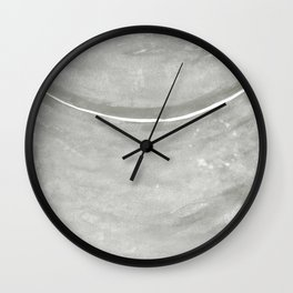 Cohesion Watercolor Print in Taupe Wall Clock