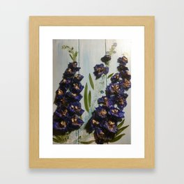 Larkspur Framed Art Print