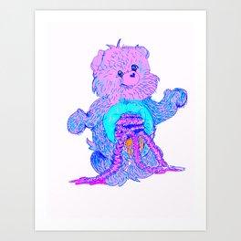 care bear guts Art Print