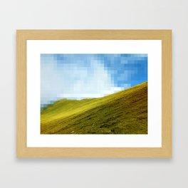 High compression clouds Framed Art Print