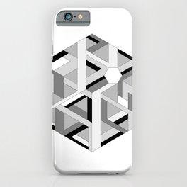 Hexagon monochrome iPhone Case